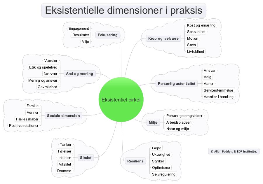 Eksistentielle dimensioner